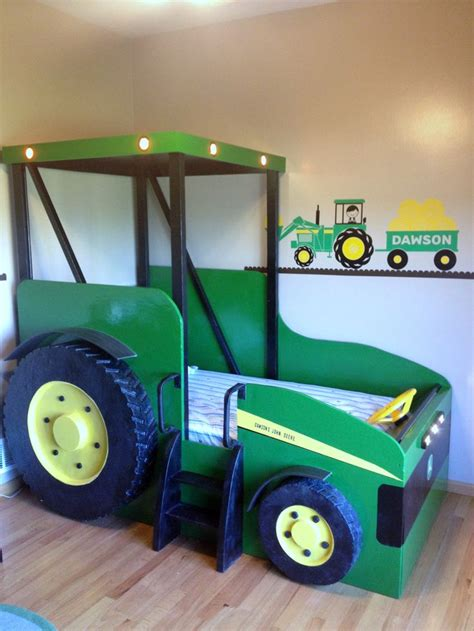 Lights On Dawson S New Tractor Bed Kids Stuff Pinterest Tractor Bed Awesome