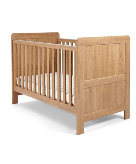 cot bed nursery furniture sets atlas cot bed 3 nursery furniture set oak effect mamas papas