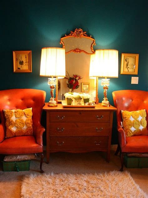 colorful fall home decorating ideas with rust