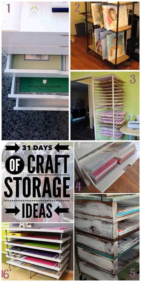 Craft Paper Storage Ideas - 33 best images about 31 days of craft storage ideas on