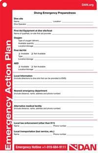 dan emergency plan template try diving