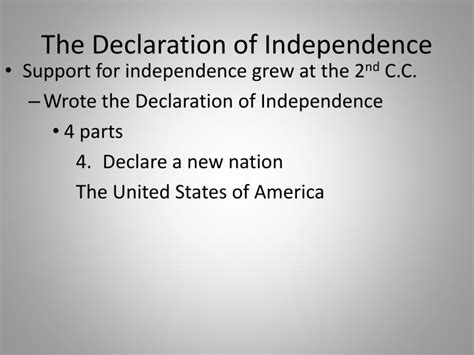 written sections of the declaration of independence ppt 2 3 moving t oward nationhood powerpoint
