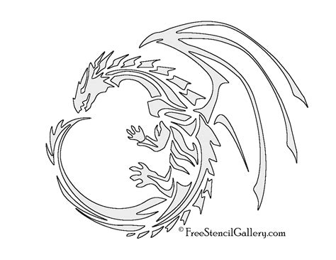 printable dragon templates dragon stencil free stencil gallery