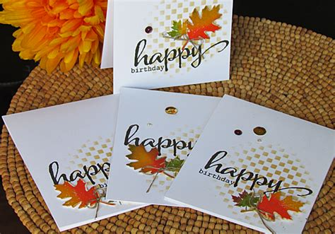 fall cards to make one layer fall birthday card tutorial
