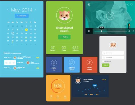download pattern ui flat ui design elements vector ai free download