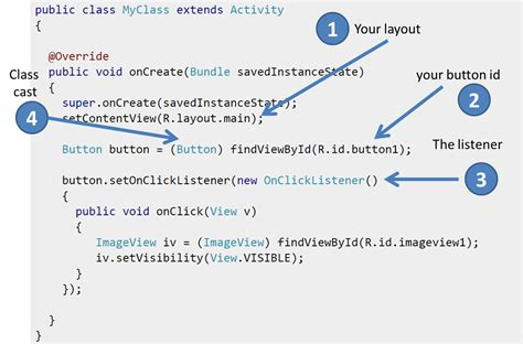 android onclicklistener java android button listener implementation stack overflow