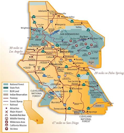 california map inland empire inland empire map search warehousing in the ie