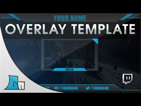 website tutorial overlay free twitch hitbox streaming overlay template pack 2015
