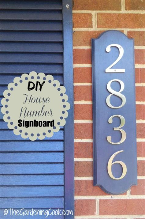 Decorative Door Numbers by Diy Decorative House Number Signboard