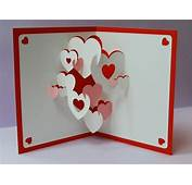 3D Cards – Hearts Pop Up Greeting Card A Unique Product By