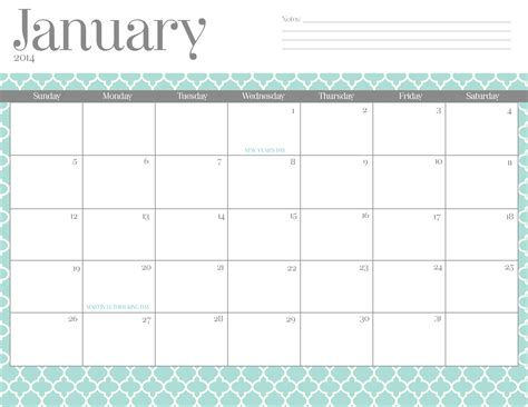 printable monthly calendar january 2016 7 best images of calendars printable 2016 cute march