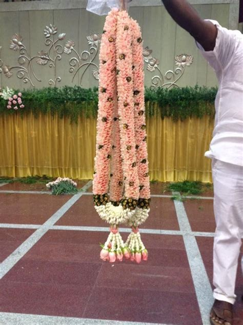 peach colour garlands   Indian Wedding Garlands   Floral