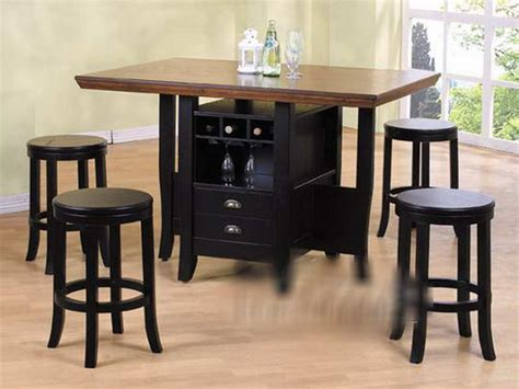 Kitchen Table Wine Storage by Kitchen Counter Height Kitchen Tables With Storage