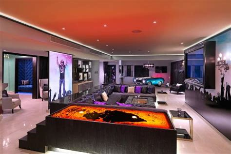 Living Room area Bret Michaels Rock Star Suite at Heaven section adults only Picture of Hard