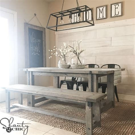 Dining Room Farm Tables Diy Industrial Farmhouse Table And How To Shanty 2