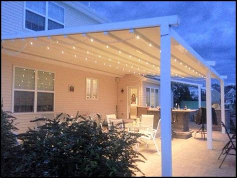 Patio Awning Lighting Ideas European Style Retractable Awnings With Lighting Create