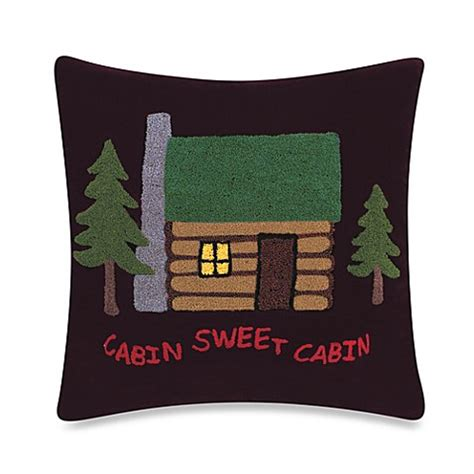bed bath and beyond reading pillow alpine lodge quot cabin sweet cabin quot pillow bed bath beyond