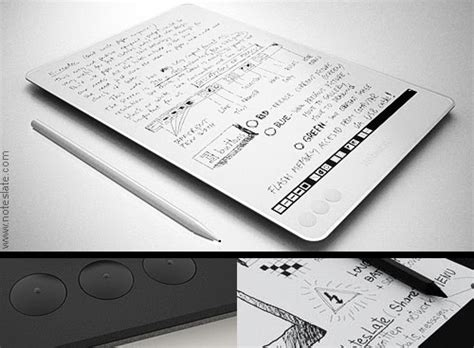 best e ink tablet noteslate e ink tablet device designitives