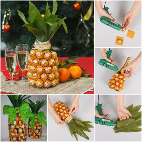 Unique Gift Ideas by Creative Gift Wrap Ideas Wine Bottle Looks Like Pineapple
