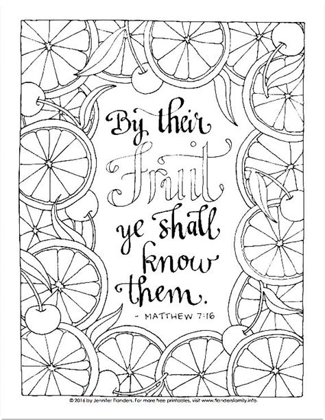 Matthew 7 Coloring Pages by Free Printable Coloring Page Matthew 7 16 Print