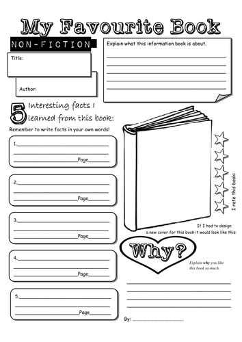 Non Fiction Book Report For Kindergarten by Non Fiction Book Report For Kinderg