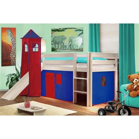 lit enfant garon toboggan mezzanine arthur meuble de style