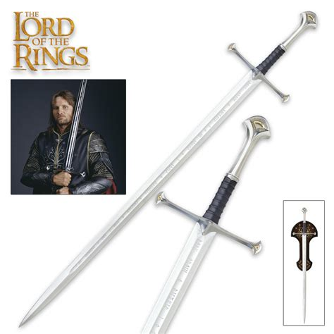 ring sword the lord of the rings anduril sword budk knives
