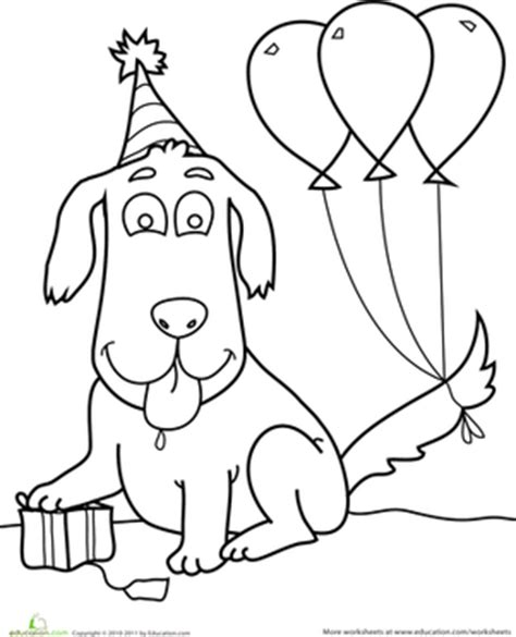 puppy birthday coloring page puppy dog birthday coloring pages printable sketch