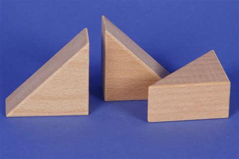 Triangle Blocks solids triangular pillars wooden triangle blocks 60x60x30mm