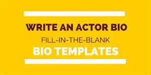 actors bio template actor bio how to write biotemplates
