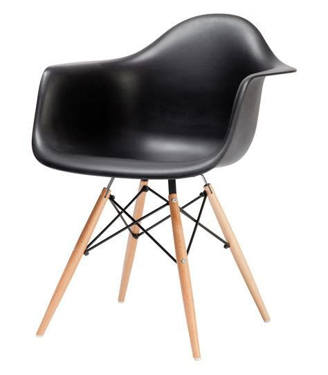 black eames chair with arms eames style daw dowel armchair
