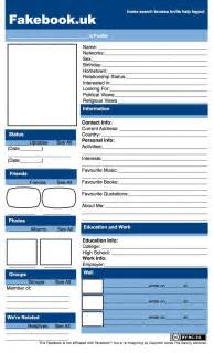 Fakebook Template by Murrayhill Fakebook Uk