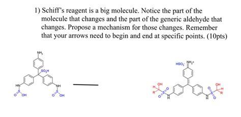 schiff reagent solved schiff s reagent is a big molecule notice the par