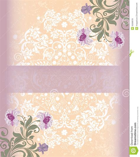 card template for flowers floral greeting card template stock vector illustration