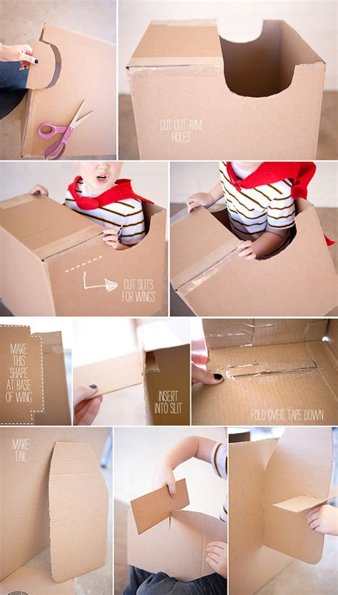 how to make a box for school cardboard airplane on airplane crafts