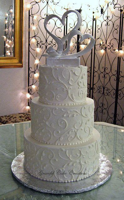 White On White Buttercream Scroll 29 Best Images About Wedding Cakes With Scrolls On