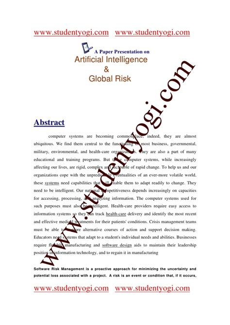 How To Make A Paper Presentation - a paper presentation on artificial intelligence and global