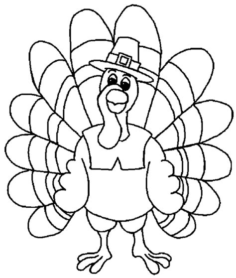 turkey image coloring page thanksgiving coloring pages for kids coloring home