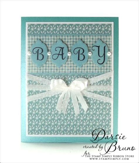 Papercraft Inc - a sweet baby card using justrite papercraft inc