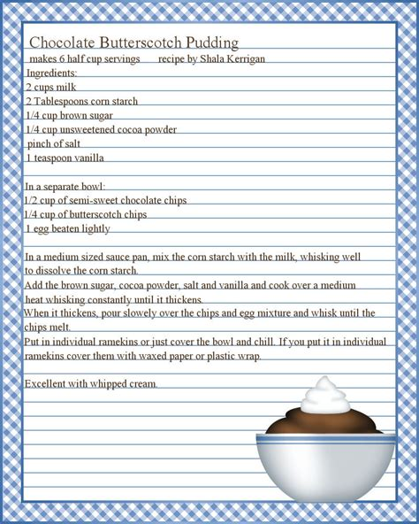 full page recipe template for word it resume cover