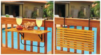 space saving table for small balconies home designing