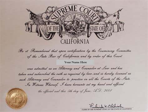 California Certificates Record Bar Preparation Visualize Your Bar Certificate