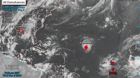 hurricane florence upgraded  category  storm
