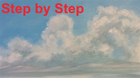 acrylic paint clouds how to paint clouds acrylic painting for beginners