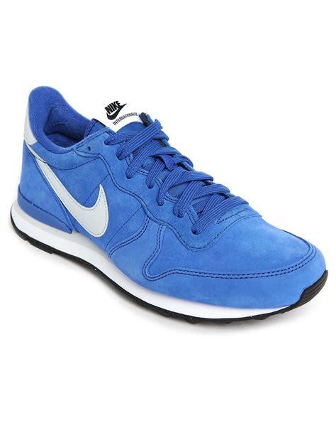nike blue sneakers nike internationalist blue suede sneakers in blue for