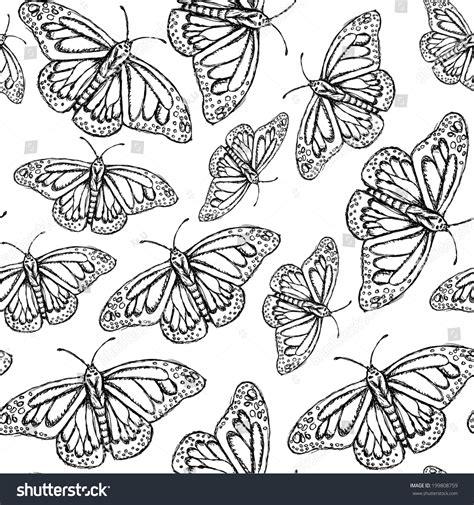 vintage pattern sketch sketch butterfly vector vintage seamless pattern eps 10