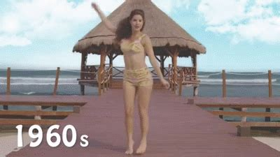 the evolution of the bikini with model and actress amanda
