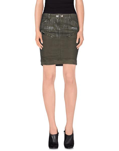 galliano denim skirt in green green save