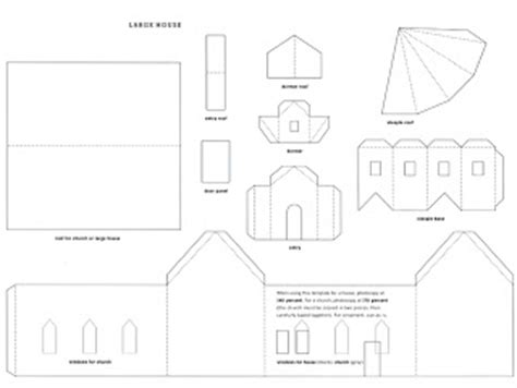 small cardboard house template mel stz wee houses 124 links templates tutorials etc