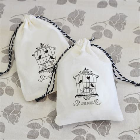 Wedding Favors Unlimited by Vintage Muslin Bags Set Of 12